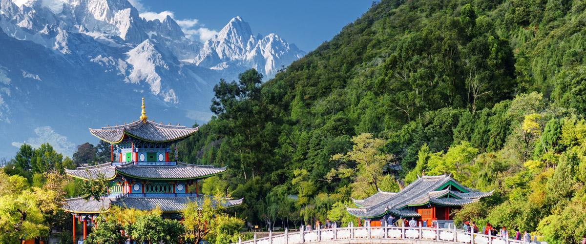 Esquiar en el Dragón de Jade, China