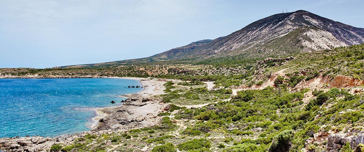 Paisaje costero de Creta, Grecia