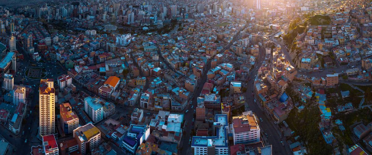 La Paz desde lo alto, Bolivia