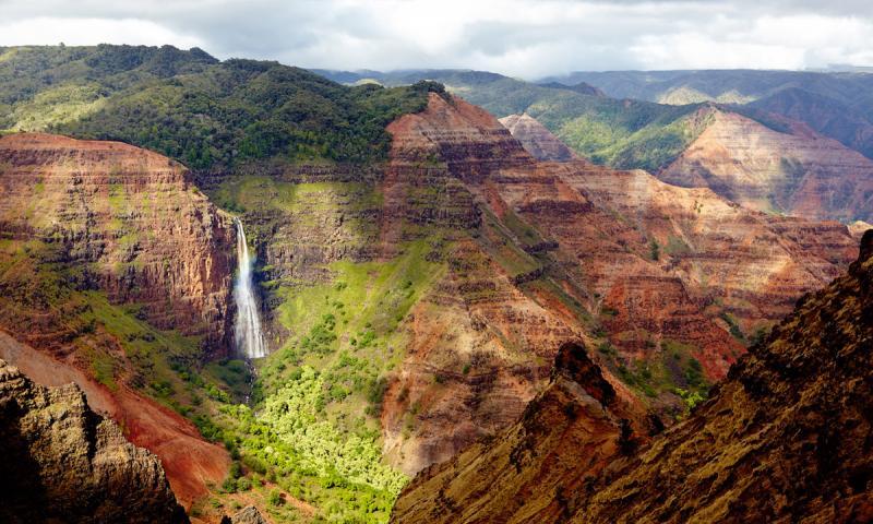 Cascadas Waipoo, Gran Cañon de Waimea, Hawái